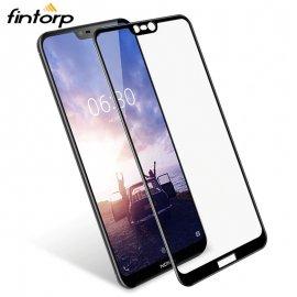 Tvrzené sklo pro Nokia 6 5 2.1 3 3.1 5.1 X5 6.1 X6 2 2018 7 Plus 8, Tempered glass 9H, Anti explosion, úplné pokrytí displeje