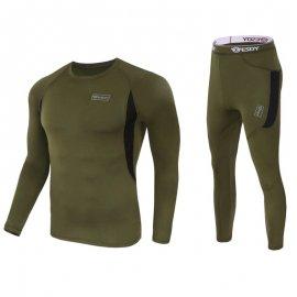 Sada kvalitní termoprádlo, rychleschnoucí, elastické, větruodolné polyester / fleece /Poštovné ZDARMA!
