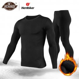 Herobiker set of quality thermal underwear for MOTO, scooter, skis, outdoor, quick-drying, elastic, windproof / FREE shipping!