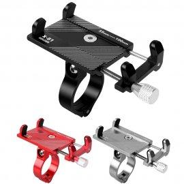 Alu držák telefonu pro jízdní kolo, motorku, otočný, univerzální 55 - 100mm /Poštovné ZDARMA!