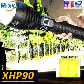 Ultra svítivá LED svítilna XHP50 XPH70 XPH90, USB nabíjení, voděodolná /Poštovné ZDARMA!