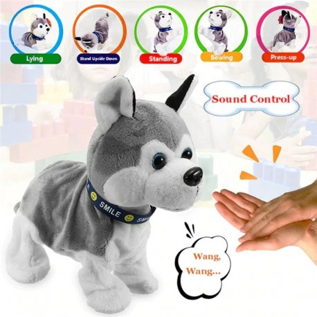 Robotic plush dog, responds to commands and touch / FREE shipping!