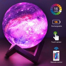 3D galaxie nádherné nočné svetlo, dotykový sensor, DO, 16 módov, USB nabíjanie / Poštovné ZADARMO!