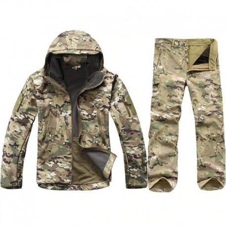 Taktická vojenská uniforma, voděodolná, větruodolná pro lov, camping, outdoor /Poštovné ZDARMA!
