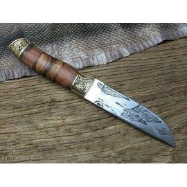 Kvalitný lovecký nôž LCM66 23.5cm, drevená rukoväť, outdoor camping / Poštovné ZADARMO!
