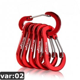 Set of 6 Lightweight Carabiner CC1 Aluminum, Outdoor camping / FREE Shipping!