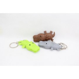 Crocodile with light and sound, LED, keychain / FREE Shipping!