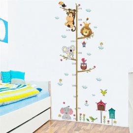 Samolepící metr na zeď, dekorace pro dětské pokoje /Poštovné ZDARMA!