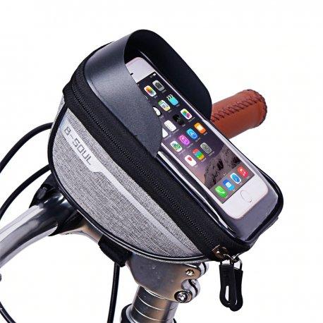 """Voděodolné Pouzdro na řidítka B-SOUL, průsvitná kapsa na telefon až do 6.5"""" /Poštovné ZDARMA!"""