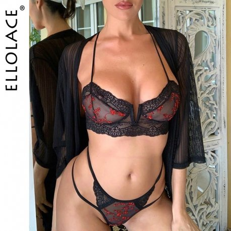 Erotic lingerie Ellolace set 2pcs / FREE shipping!