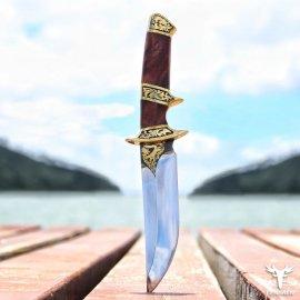 Nádherný lovecký nůž LENGREN 24cm + kožené pouzdro, dřevěná rukojeť, velmi ostrý /Poštovné ZDARMA!