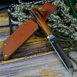 Japanese knife PEGASI 24cm + leather case, wooden handle, very sharp / FREE Shipping!