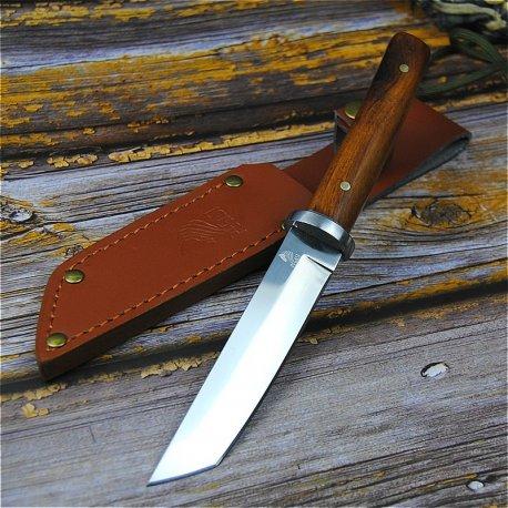 Japonský nůž PEGASI 24cm + kožené pouzdro, dřevěná rukojeť, velmi ostrý /Poštovné ZDARMA!
