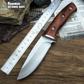 Lovecký nôž LCM66 23.5cm + puzdro, drevená rukoväť, veľmi ostrý / Poštovné ZADARMO!