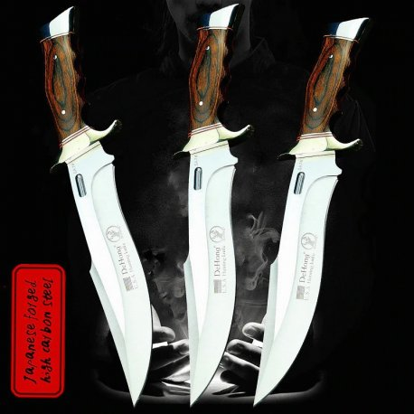 Hunting knife U.S.A SA78 31cm + case, wooden handle, very sharp / FREE Shipping!