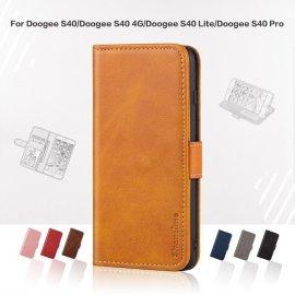 Puzdro pre Doogee S40 S40 4G Doogee S40 Pro, flip, peňaženka, stojan, PU koža