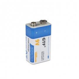 GTF Lithium-ion Nabíjecí baterie 9V 1000mAh, MicroUSB nabíjení /Poštovné ZDARMA!