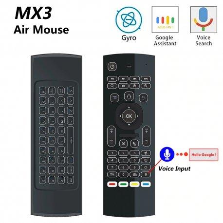 MX3 2.4Ghz bezdrôtový ovládač Wireless Mini pre Smart TV Android TV box mini PC HTPC
