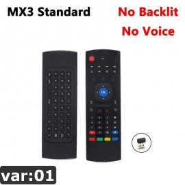 MX3 2.4Ghz bezdrôtový ovládač Wireless Mini pre Smart TV Android TV box mini PC HTPC