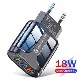 18W QC3.0 USB Rýchlonabíjačka 3xUSB 5V 2.1A EÚ AC univerzálny pre mobily a ďalšie zariadenia / Poštovné ZADARMO!
