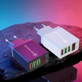 30W QC3.0 USB Rýchlonabíjačka 3xUSB 5V 3A EÚ AC univerzálny pre mobily a ďalšie zariadenia / Poštovné ZADARMO!
