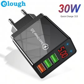 30W QC3.0 USB Quick Charger 3xUSB 5V 3A EU AC universal for mobile phones and other devices / FREE Shipping!