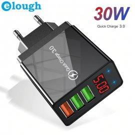 LCD 30W QC3.0 USB Rychlonabíječka 3xUSB 5V 3A univerzální /Poštovné ZDARMA!