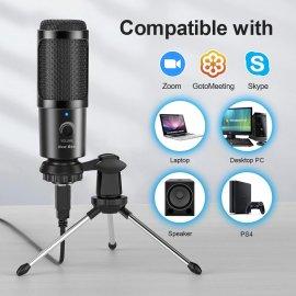 USB Mikrofon se stojánkem, nastavitelná hlasitost, redukce šumu pro Skype Chat Hry Youtube /poštovné ZDARMA!
