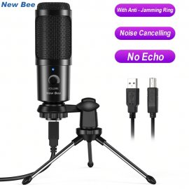 HiFi USB Microphone with Stand, Adjustable Volume, Noise Reduction for Skype Chat Games Youtube / FREE Shipping!