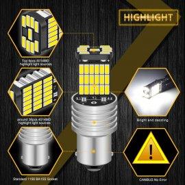 2ks Auto LED žárovka P21W 1156 BA15S 12V DC /Poštovné ZDARMA!