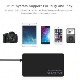 USB HUB 4x USB 3.0, rychlost až 5Gb/s USB 3.0, 480MB/s USB 2.0