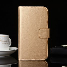 Case for Homtom HT16, flip, stand, wallet, PU leather
