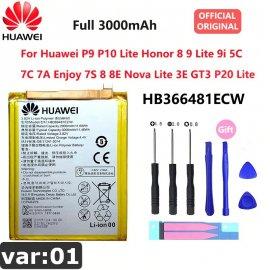 ORIGINAL Baterie pro Huawei P9 P10 P20 Honor 8 9 Lite 10 9i 5C Enjoy Nova Mate 2 2i 3i 5A 5X 6S 7A 7X G7 Y7 G8 G10 Plus Pro SE
