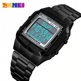 Watch SKMEI 1381 LED digital, stainless steel / FREE Shipping!