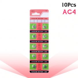 10x Button Cell Battery AG4 377A 377 LR626 SR626SW SR66 LR66 (10pcs / box)