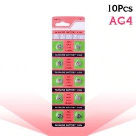 10x Gombíková Batérie AG4 377A 377 LR626 SR626SW SR66 LR66 (10ks v balení)