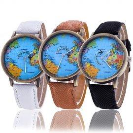Dámské hodinky Atlantic s mapou /Poštovné ZDARMA!