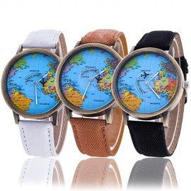 Ladies Atlantic Watch with Map / FREE Shipping!