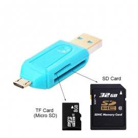 2 x Čtečka paměťových karet OTG SD Micro SD USB (2ks)