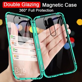 360 Double Sided Glass Case Realme 5 Pro Case Magnetic Metal Bumper Back Cover For OPPO Realme 5 Pro 5Pro Q Realme5 Cases 6.3