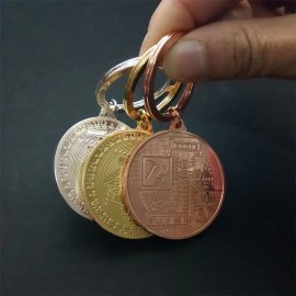 BTC Bitcoin keyring, metal, 38mm / FREE Shipping!