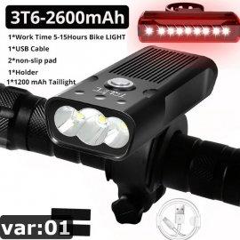Super svietivé LED Svetlo na bicykel 5T6 3000lm, USB nabíjanie, 4 módmi / Poštovné ZADARMO!
