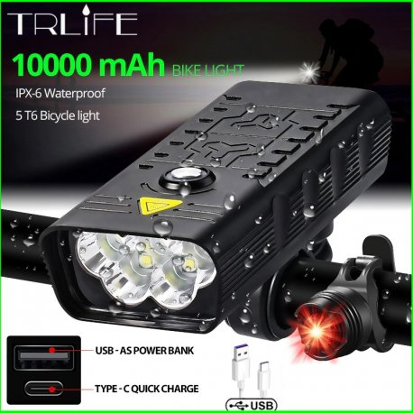 Super bright LED Bike light 5T6 3000lm, USB charging, 4 modes / FREE shipping!