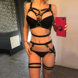 Sexy lingerie, PU leather / FREE shipping!