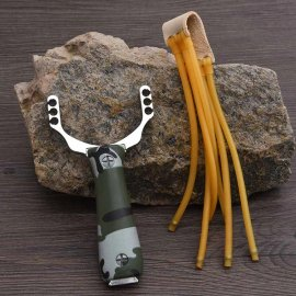 Strong Hunting Slingshot, Stainless Steel / FREE Shipping!