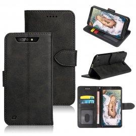 Pouzdro pro Blackview BV5500/BV5500PRO/BV5500 Plus, peněženka, stojánek, PU kůže