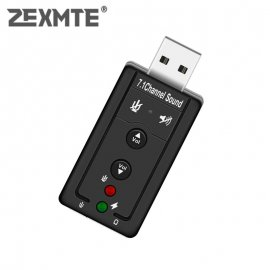 USB Sound Card with Microphone 3D 7.1 for PC, ntb / FREE Shipping!