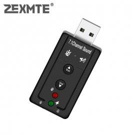 USB Zvuková karta s mikrofonem 3D 7.1 pro PC, ntb /Poštovné ZDARMA!