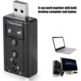 Zvuková karta s mikrofonem 3D 7.1 pro PC, USB /Poštovné ZDARMA!