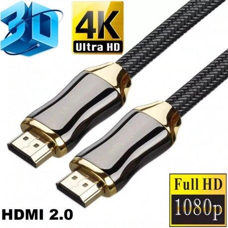 Kvalitní HDMI kabel HDMI 2.0 HDR 4K 60hz 18Gbps, gold plated /Poštovné ZDARMA!